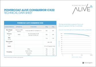 <p>ALIVE Technical Data Sheet CX22</p>